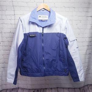 Columbia Spring Hiking Jacket Purple Blue Vest